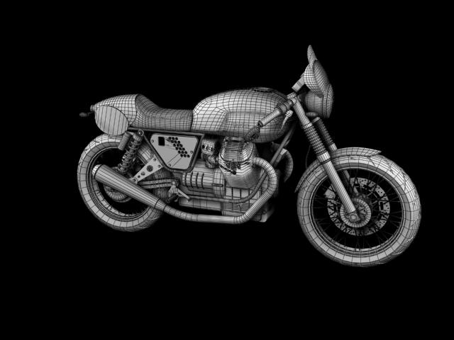 moto guzzi v7 clubman racer 2010 3d model 3ds max c4d obj 151914