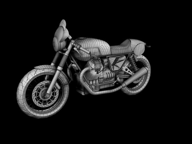 moto guzzi v7 clubman racer 2010 3d model 3ds max c4d obj 151915