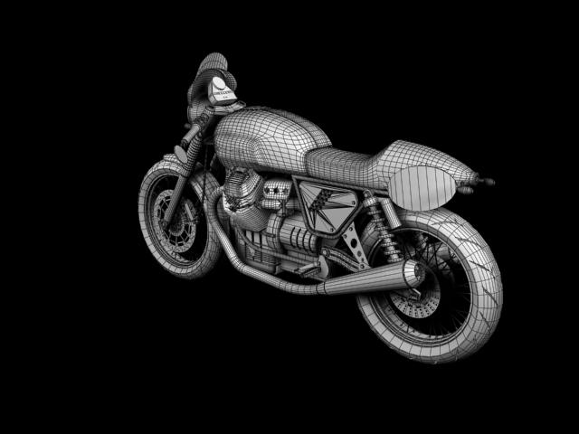 moto guzzi v7 clubman racer 2010 3d model 3ds max c4d obj 151917