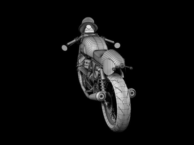 moto guzzi v7 clubman racer 2010 3d model 3ds max c4d obj 151918