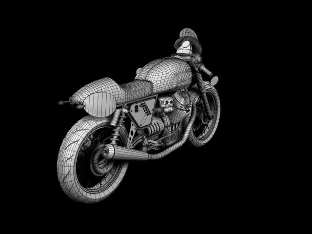 moto guzzi v7 clubman racer 2010 3d model 3ds max c4d obj 151919