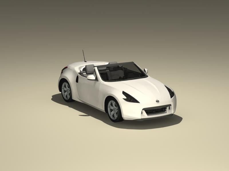nissan 370z roadster 2010 3d model buy nissan 370z. Black Bedroom Furniture Sets. Home Design Ideas