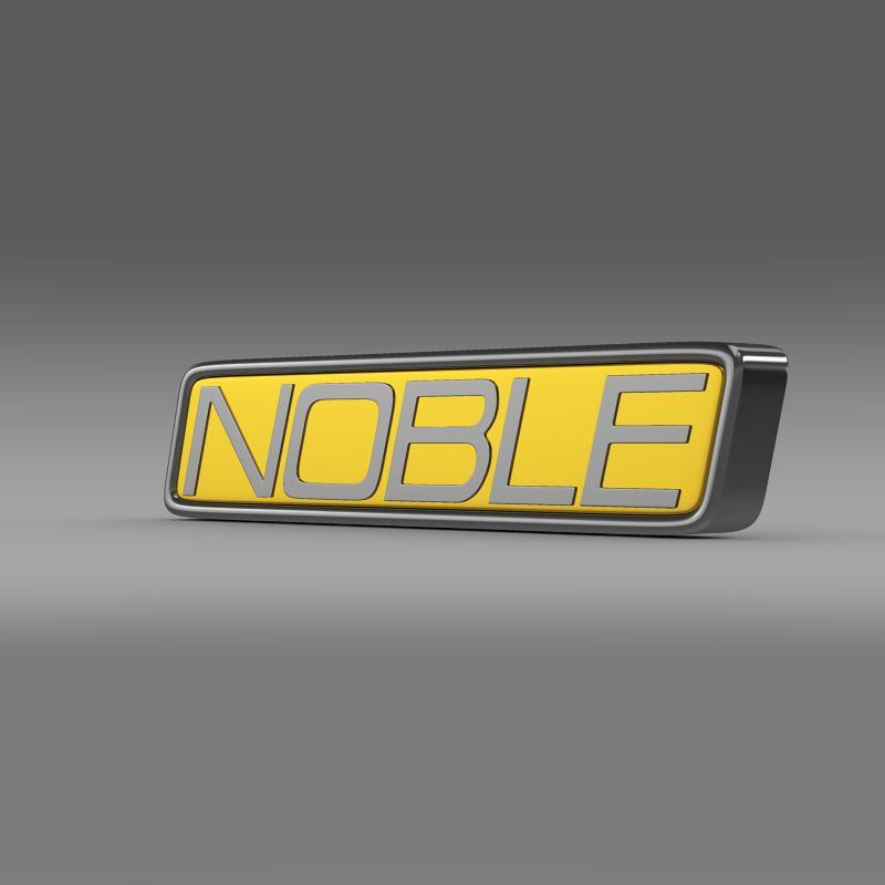 noble logo 3d model 3ds max fbx c4d lwo ma mb hrc xsi obj 133858
