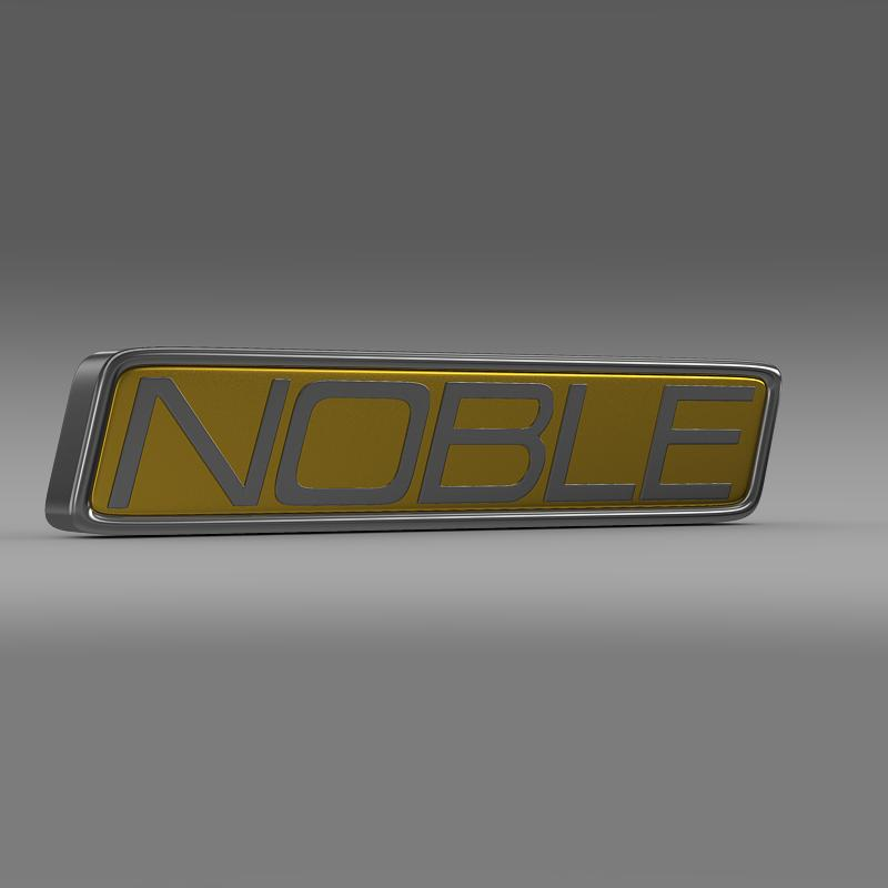 noble logo 3d model 3ds max fbx c4d lwo ma mb hrc xsi obj 133860