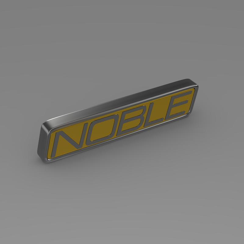 noble logo 3d model 3ds max fbx c4d lwo ma mb hrc xsi obj 133863