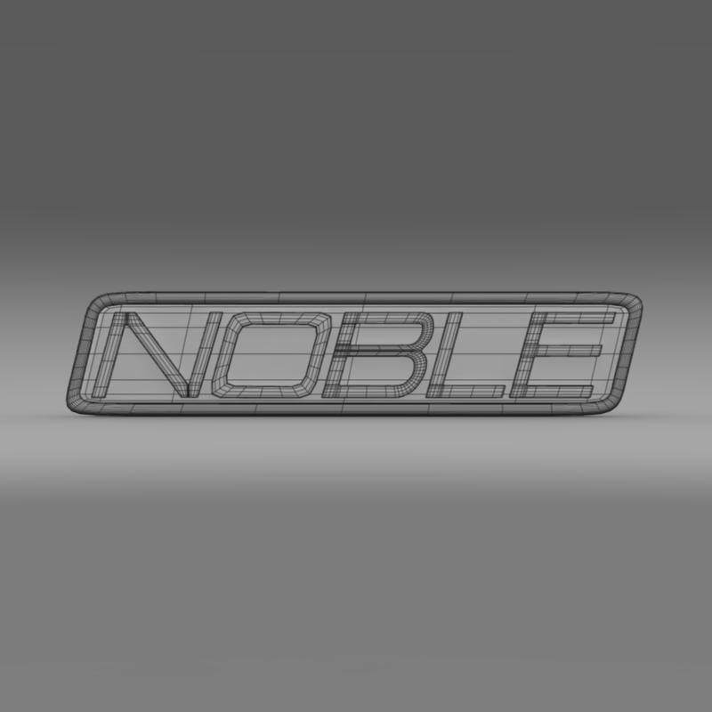 noble logo 3d model 3ds max fbx c4d lwo ma mb hrc xsi obj 133864