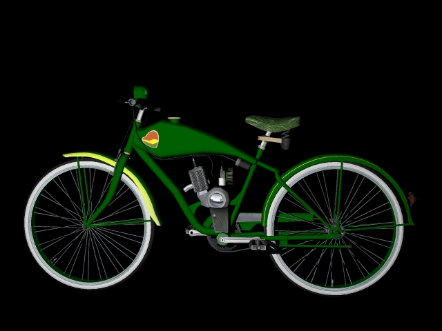 old bicycle 3d model 3ds 162606
