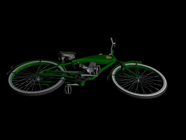 stari bicikl 3d model 3ds 162613