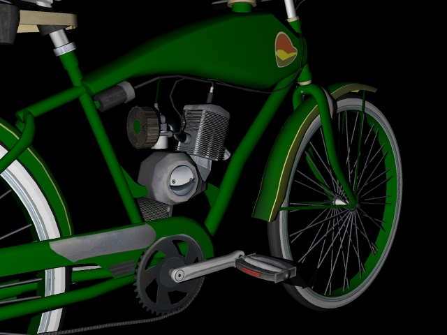 stari bicikl 3d model 3ds 162616
