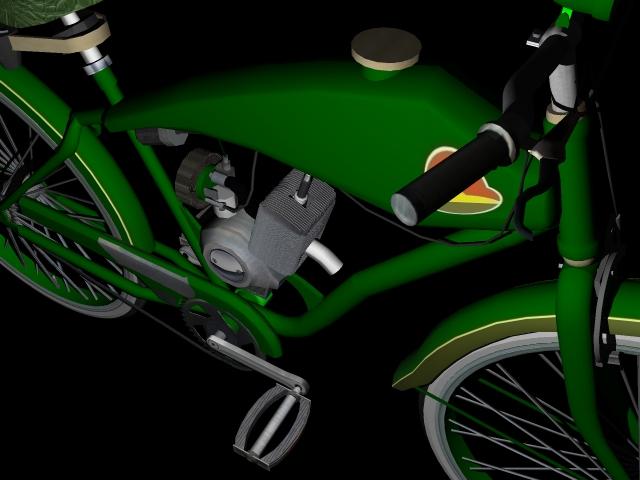 stari bicikl 3d model 3ds 162617