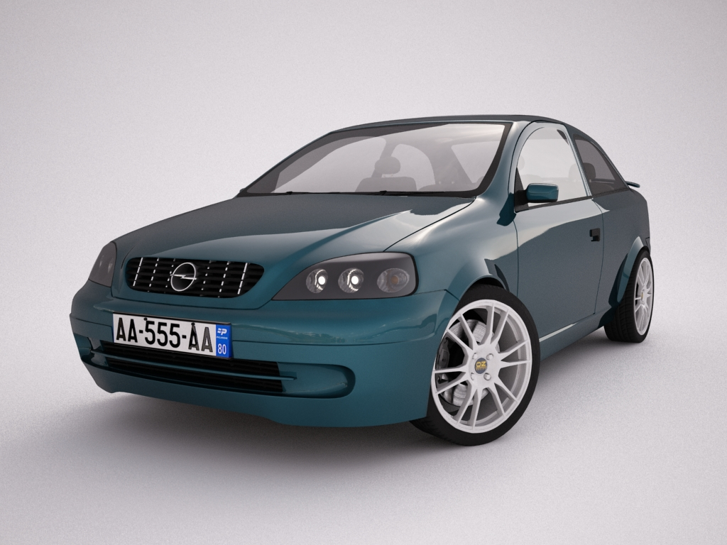 opel astra g 3d model 3ds max jpeg jpg texture obj other 124302