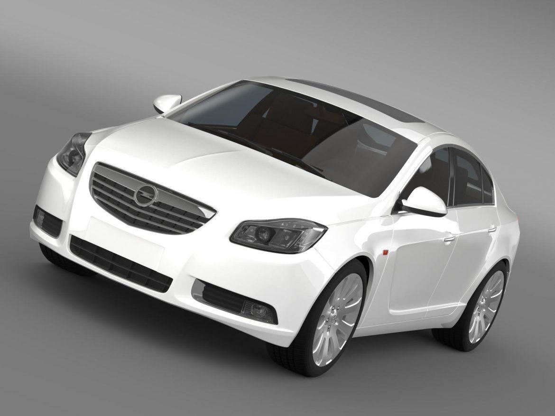 opel insignia hatchback 2008-13 3d model 3ds max fbx c4d lwo ma mb hrc xsi obj 165660