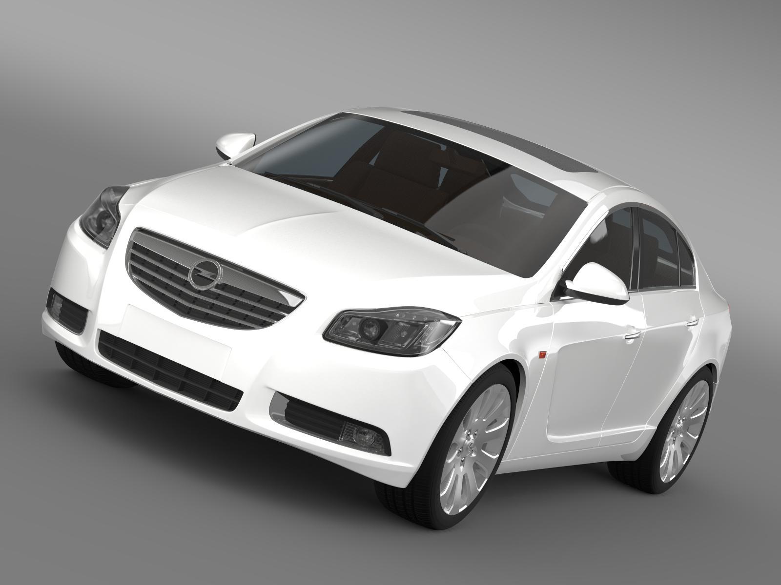 opel insignia hatchback model 2008-13 3d 3ds max fbx c4d ar gyfer yr hrc xsi obj