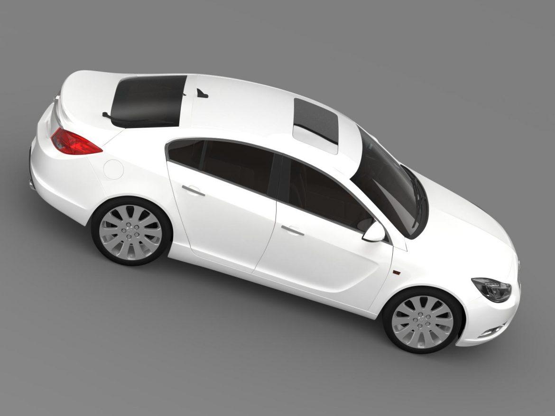 opel insignia hatchback 2008-13 3d model 3ds max fbx c4d lwo ma mb hrc xsi obj 165670