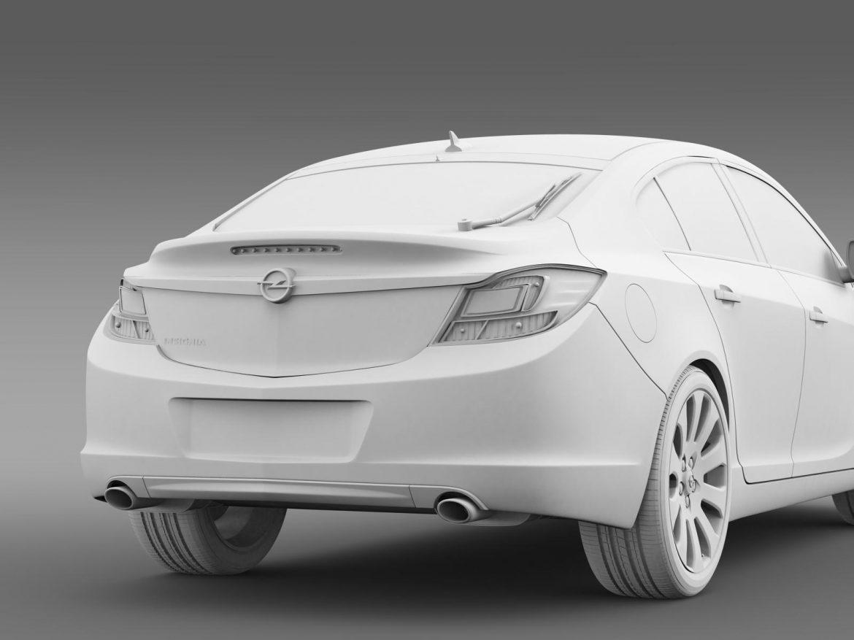 opel insignia hatchback 2008-13 3d model 3ds max fbx c4d lwo ma mb hrc xsi obj 165675