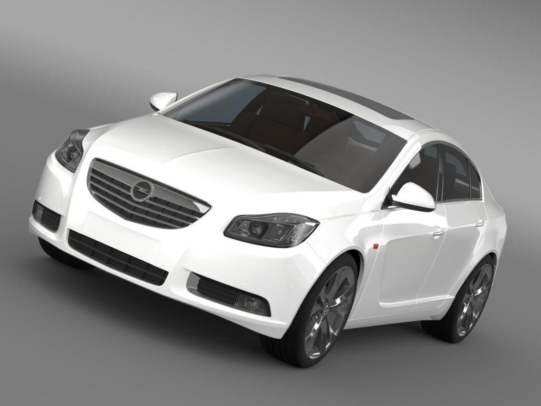 opel insignia hatchback turbo 2008-13 3d model 3ds max fbx c4d lwo ma mb hrc xsi obj 165679