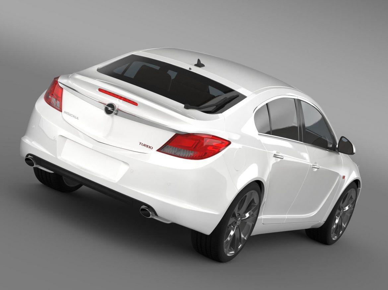 opel insignia hatchback turbo 2008-13 3d model 3ds max fbx c4d lwo ma mb hrc xsi obj 165680