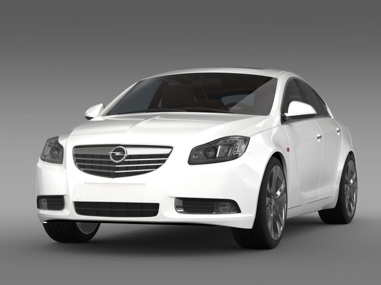 opel insignia hatchback turbo 2008-13 3d model 3ds max fbx c4d lwo ma mb hrc xsi obj 165681
