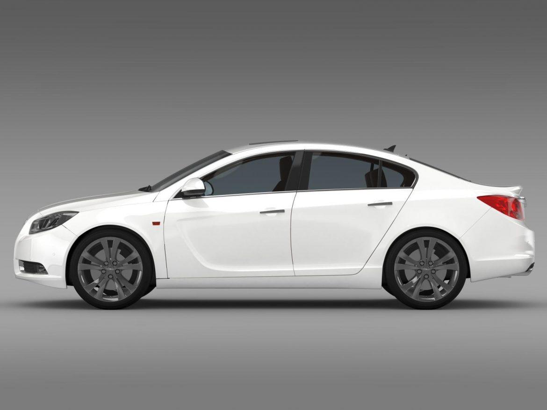 opel insignia hatchback turbo 2008-13 3d model 3ds max fbx c4d lwo ma mb hrc xsi obj 165684