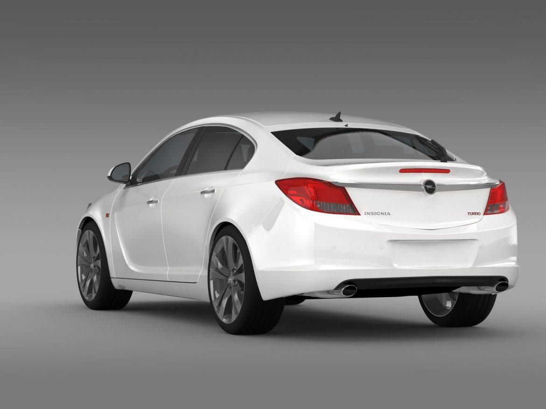 opel insignia hatchback turbo 2008-13 3d model 3ds max fbx c4d lwo ma mb hrc xsi obj 165686
