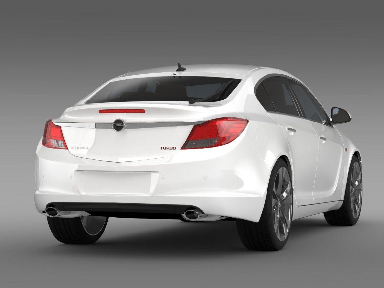 opel insignia hatchback turbo 2008-13 3d model 3ds max fbx c4d lwo ma mb hrc xsi obj 165687