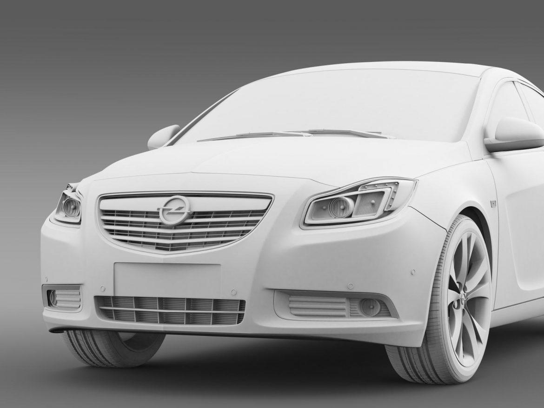 opel insignia hatchback turbo 2008-13 3d model 3ds max fbx c4d lwo ma mb hrc xsi obj 165692