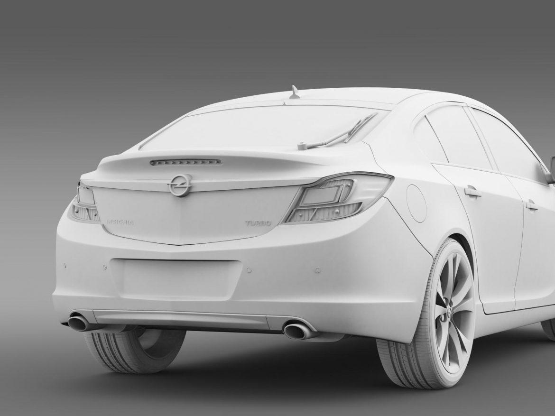 opel insignia hatchback turbo 2008-13 3d model 3ds max fbx c4d lwo ma mb hrc xsi obj 165693