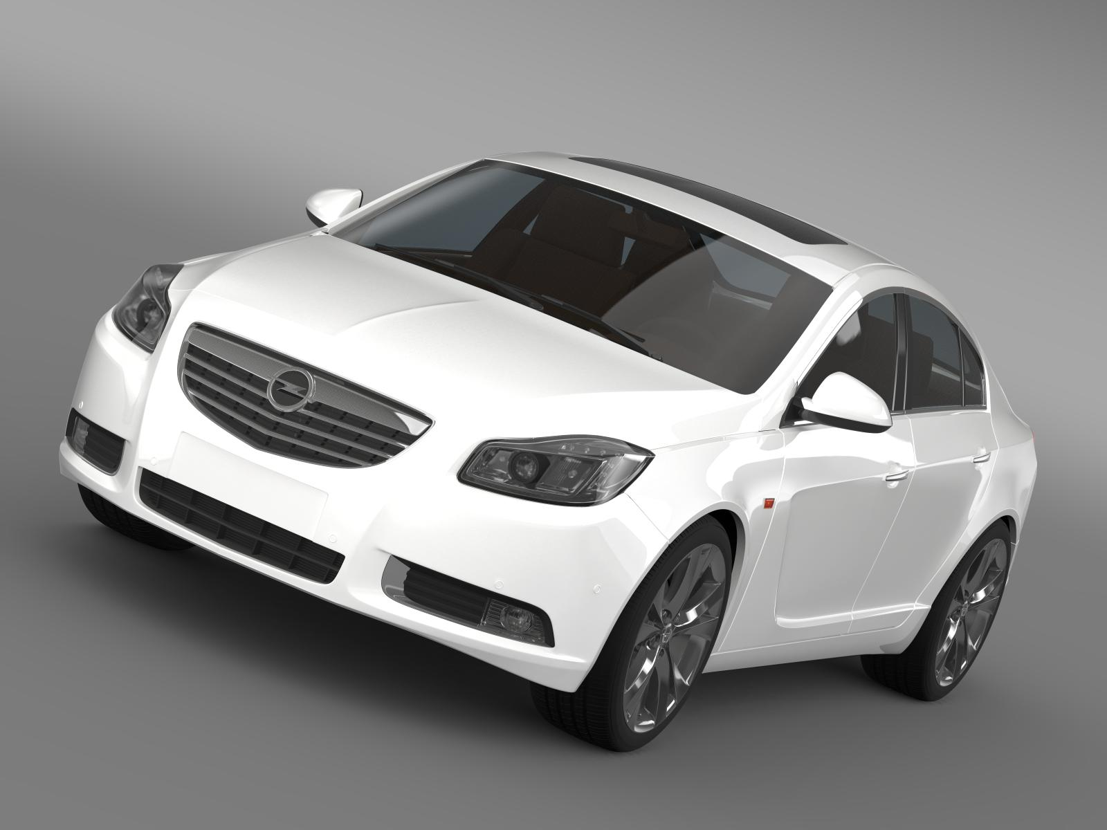 opel insignia turbo 2008-13 3d model 3ds max fbx c4d