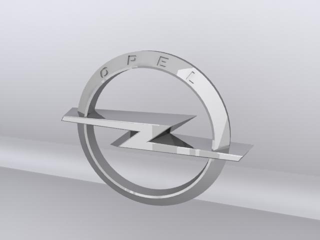 opel logo 3d v 3d model max 152741