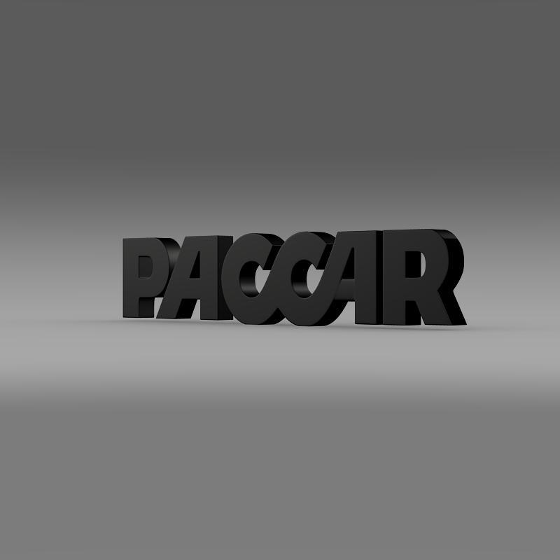 paccar logo 3d model 3ds max fbx c4d lwo ma mb hrc xsi obj 149491