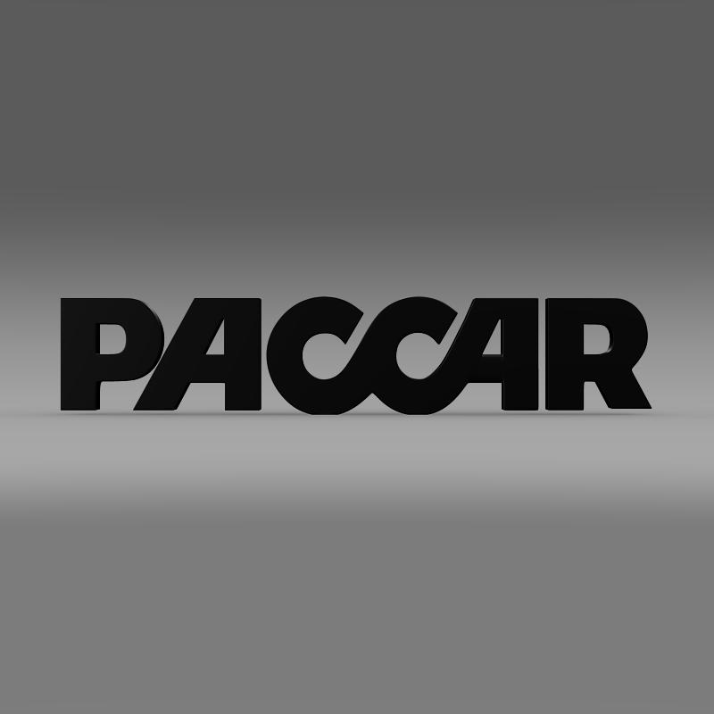 paccar logo 3d model 3ds max fbx c4d lwo ma mb hrc xsi obj 149492