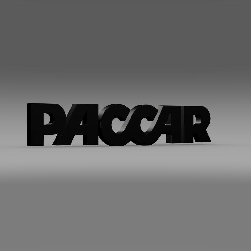 paccar logo 3d model 3ds max fbx c4d lwo ma mb hrc xsi obj 149493