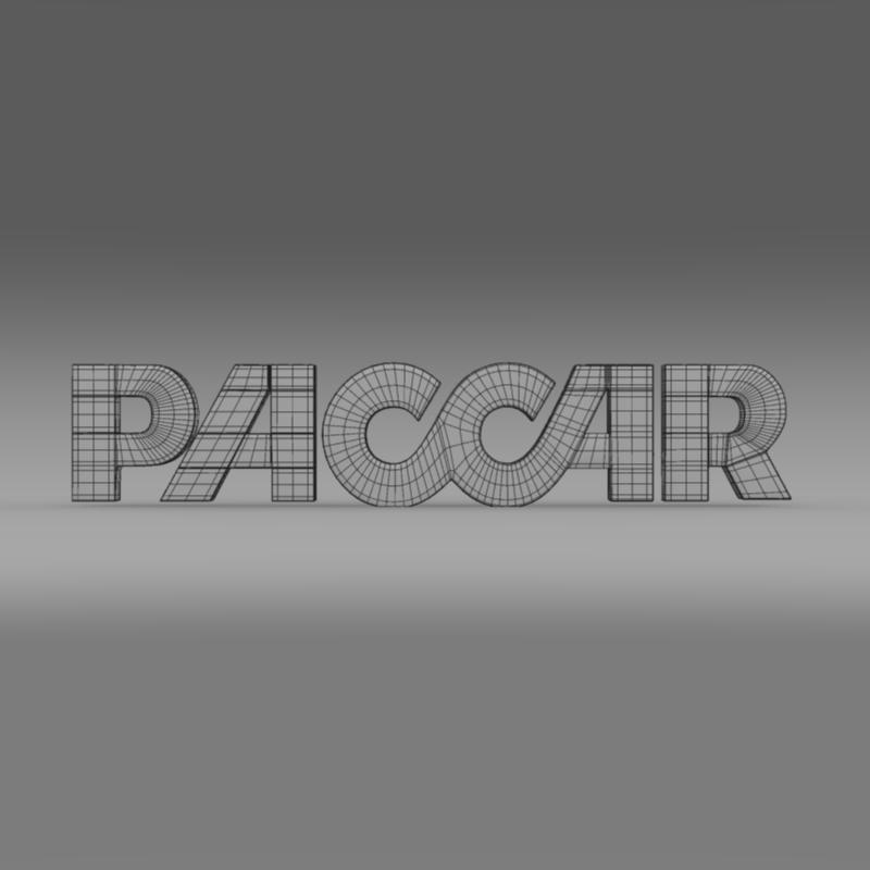 paccar logo 3d model 3ds max fbx c4d lwo ma mb hrc xsi obj 149497