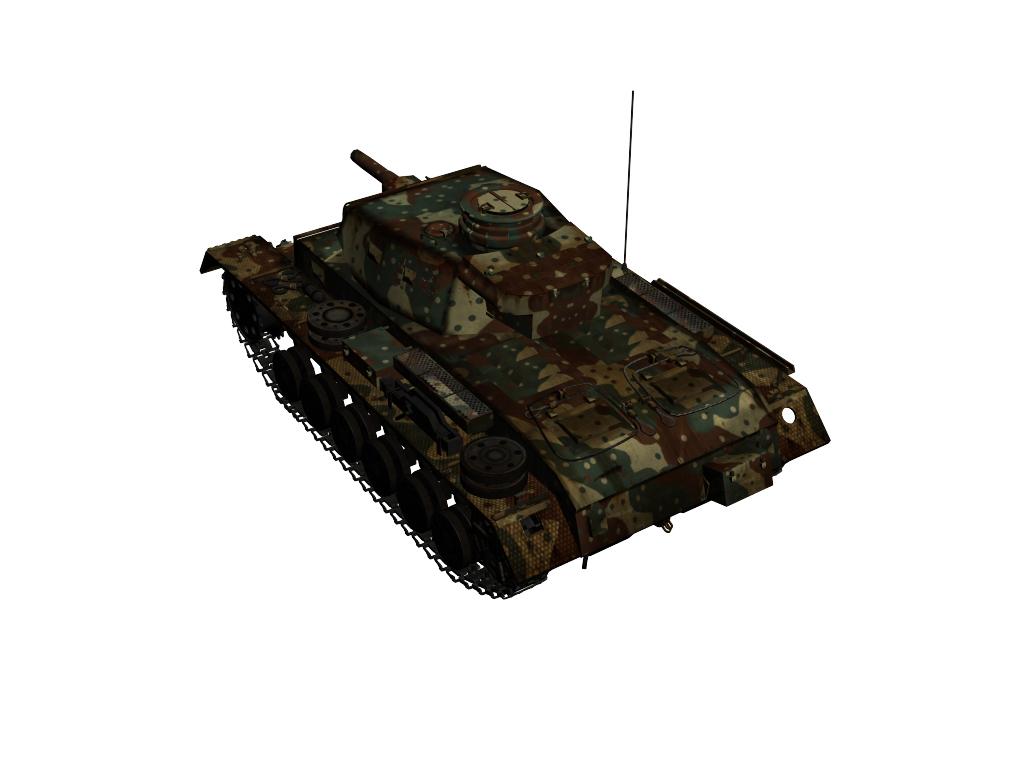 panzer iii ausf.g 3d model max 142010
