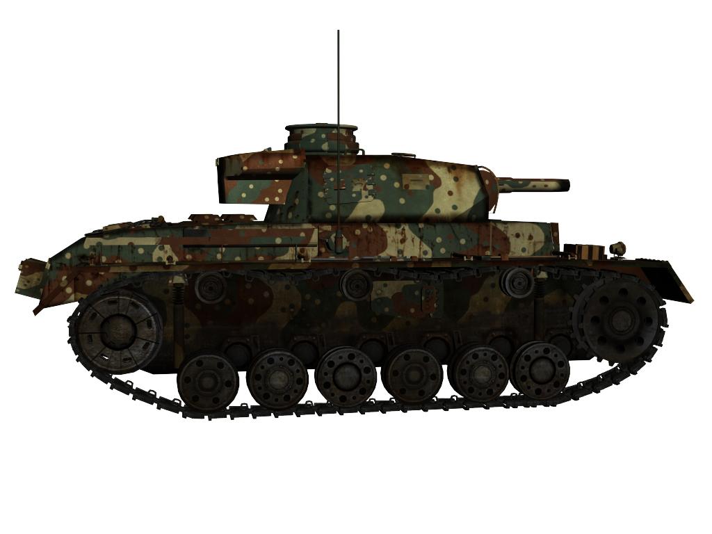 panzer iii ausf.g 3d model max 142011