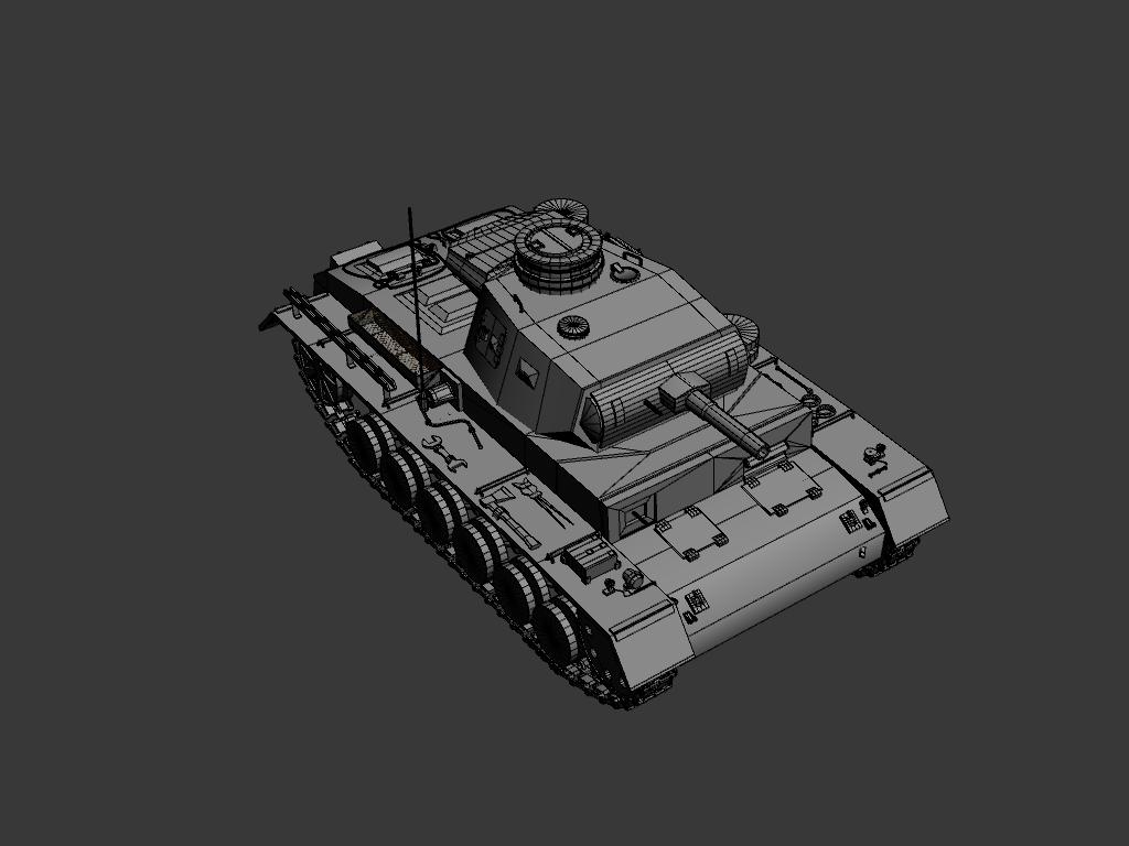 panzer iii ausf.g 3d model max 142013