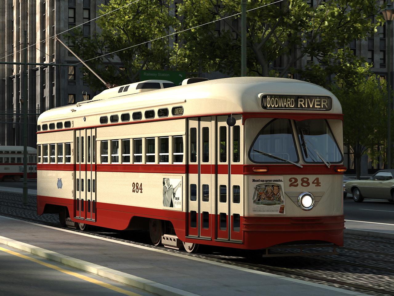 pcc streetcar 1945 3d model 3ds max fbx c4d obj 163976