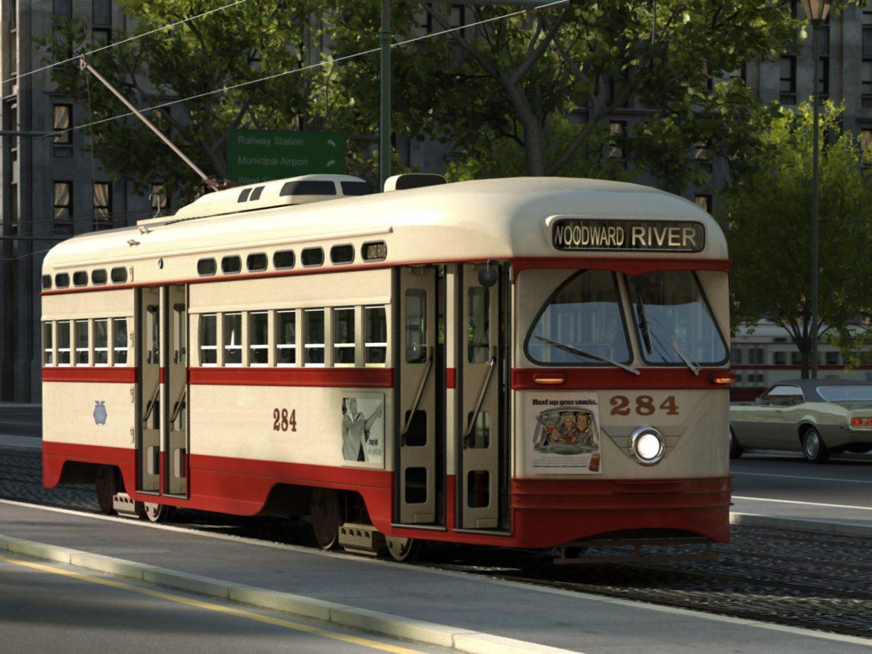 pcc streetcar 1945 3d líkan 3ds max fbx c4d obj 163977
