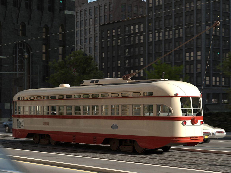 pcc streetcar 1945 3d líkan 3ds max fbx c4d obj 163978