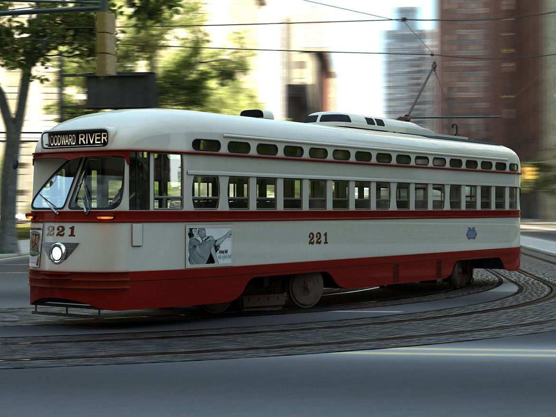pcc streetcar 1945 3d líkan 3ds max fbx c4d obj 163979