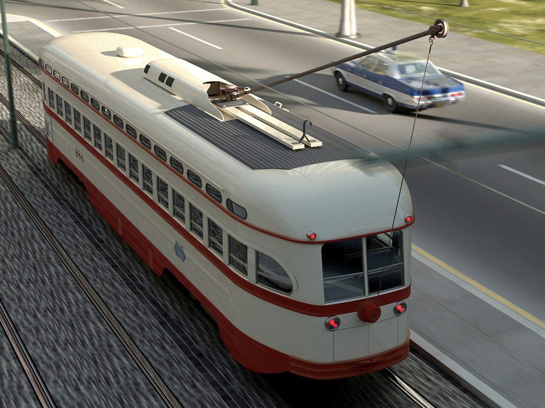 pcc streetcar 1945 3d líkan 3ds max fbx c4d obj 163980