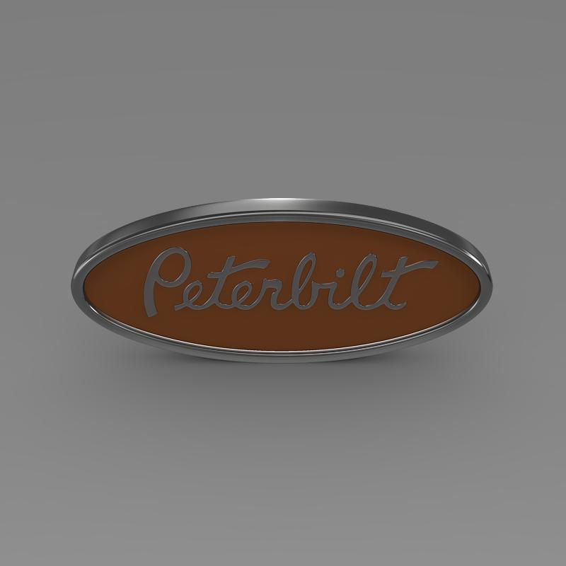 peterbilt logo 3d model 3ds max fbx c4d lwo ma mb hrc xsi obj 133869