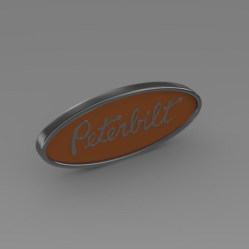 Peterbilt Logo 3D Model .max .obj .3ds .fbx .c4d .lwo .lw