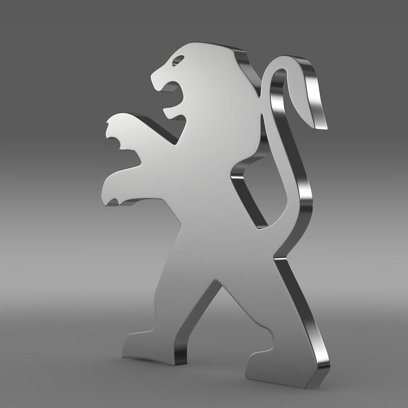 peugeot wheel logo 3d model 3ds max fbx c4d lwo ma mb hrc xsi obj 151592