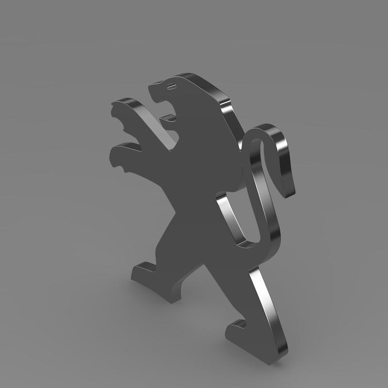 peugeot wheel logo 3d model 3ds max fbx c4d lwo ma mb hrc xsi obj 151595