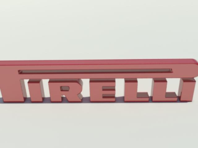 pirelli logo 3d model 3ds max dxf w3d obj 119212
