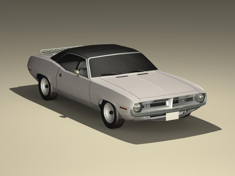 plymouth cuda ragtop 1970 3d model 3ds max fbx obj 147928