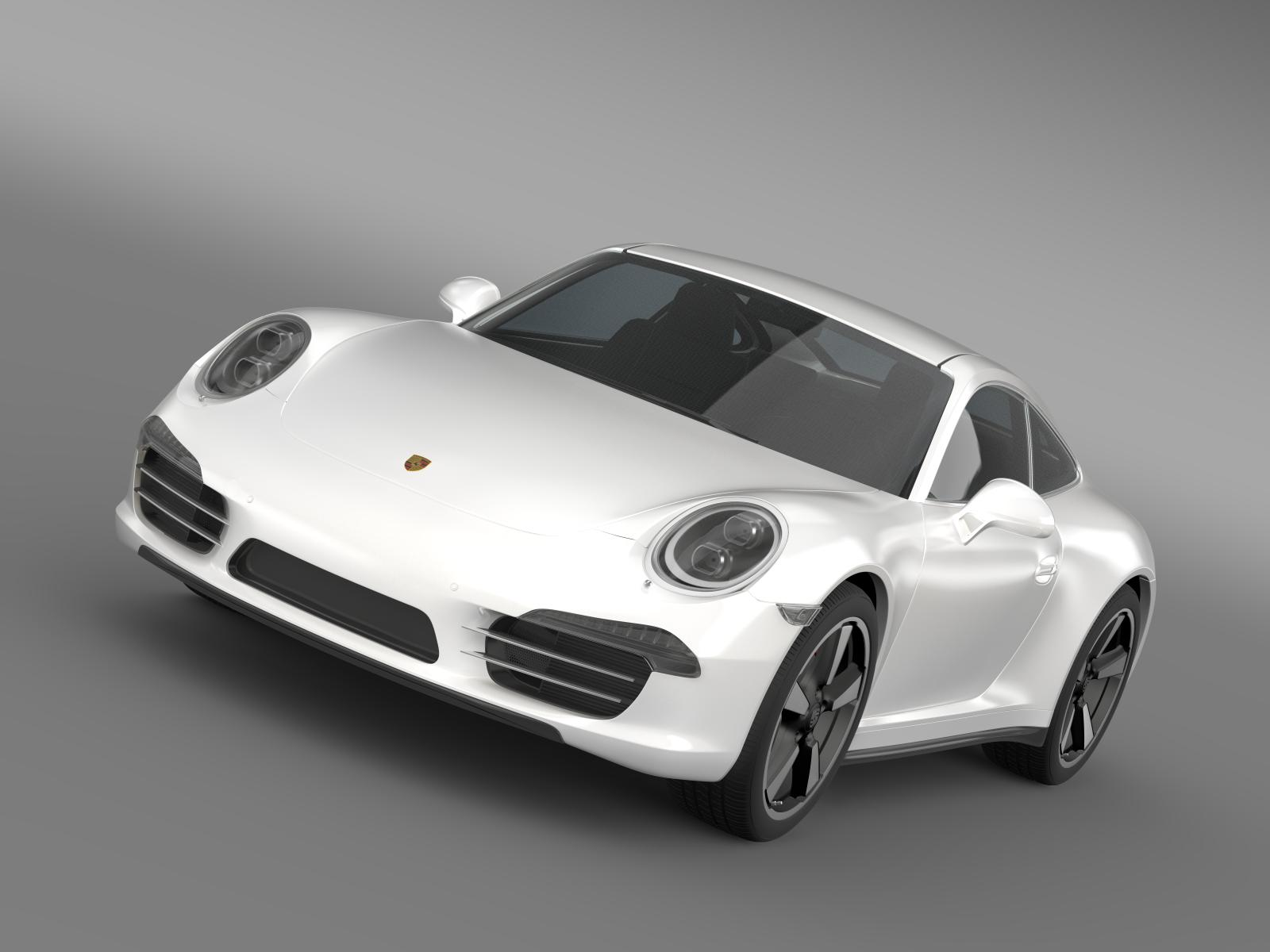 porsche 911 50 year edition (2013) 3d model 3ds max fbx c4d lwo ma mb hrc xsi obj 154139
