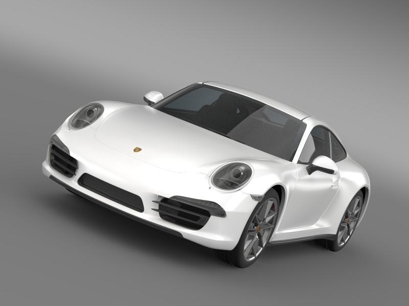 porsche 911 carerra 2013 3d model 3ds max fbx c4d lwo ma mb hrc xsi obj 153625