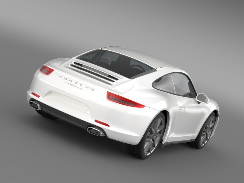 porsche 911 carerra 2013 3d model 3ds max fbx c4d lwo ma mb hrc xsi obj 153626